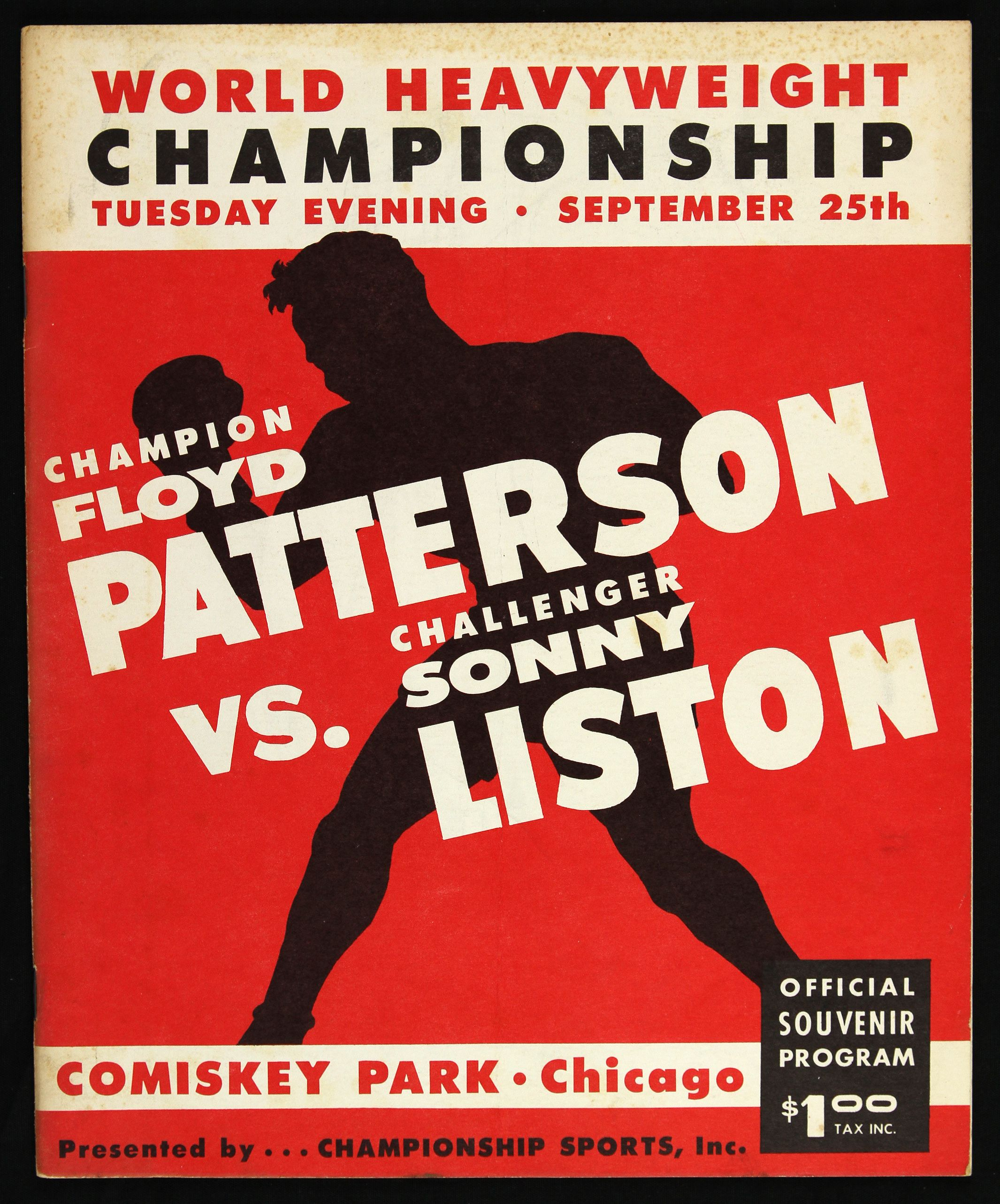 FIGHT PROGRAM PATTERSON-LISTON I.