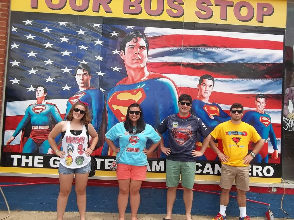 GGGGGGGG2015 Superman Celebration Sign Pose