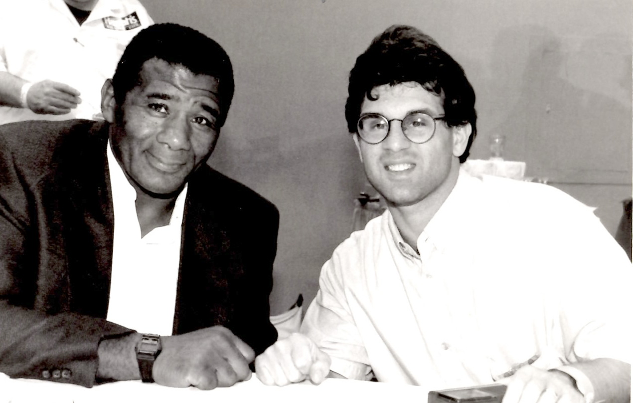John Rinaldi with Floyd Patterson * (PHOTO BY ALEX RINALDI)