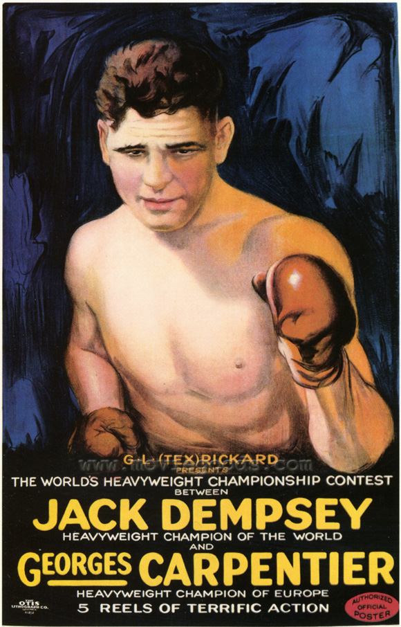 Jack Dempsey Cartoon Poster