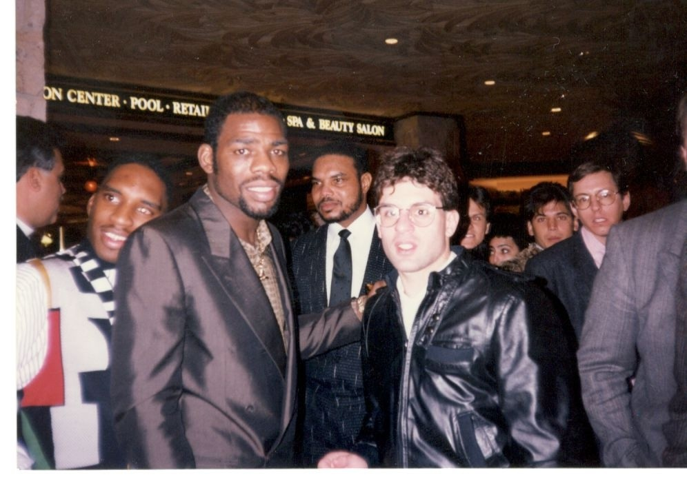Alex Rinaldi with triple champion Iran Barkley.