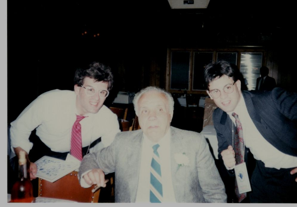 John and Alex Rinaldi with former middleweight champion Jake LaMotta - The Raging Bull.