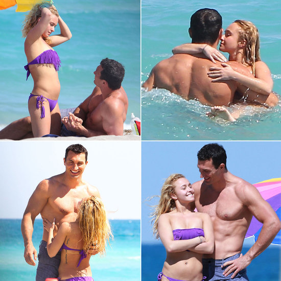 Heavyweight champion Wladimir Klitschko with actress Hayden Panettiere
