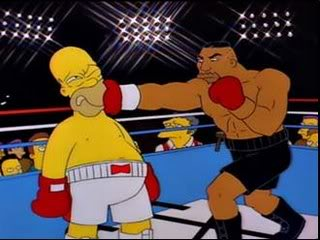 Homer Simpson vs. Mike Tyson