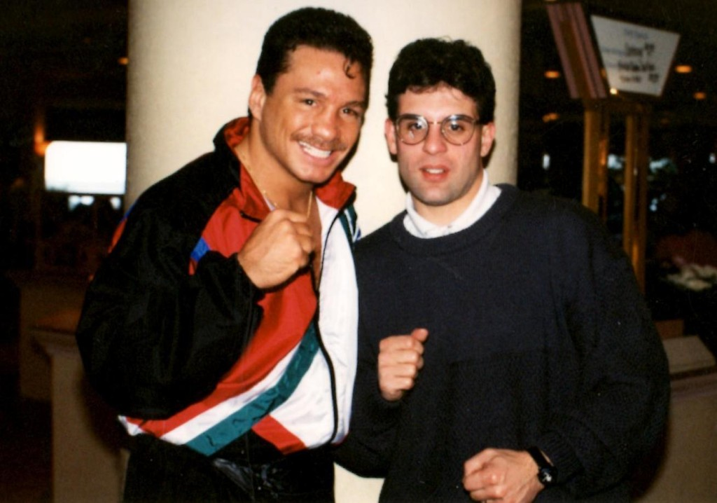 Alex Rianldi with teh great Vinny Pazienza *(PHOTO BY JOHN RINALDI)