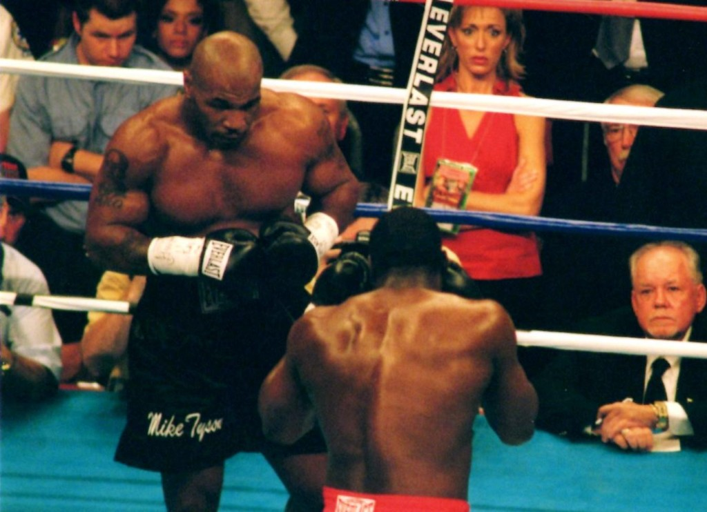 Mike Tyson (L) vs. Danny Williams on July 30, 2004 in Louisville, Kentucky. Williams won by KO *(PHOTO BY JOHN RINALDI)