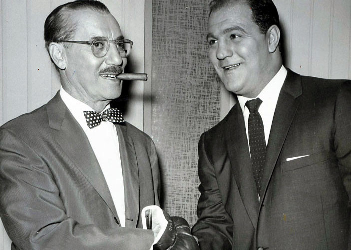 Groucho Marx with Rocky Marciano