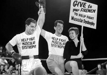 Rocky Marciano with Dean Martin and Angela Iasilli