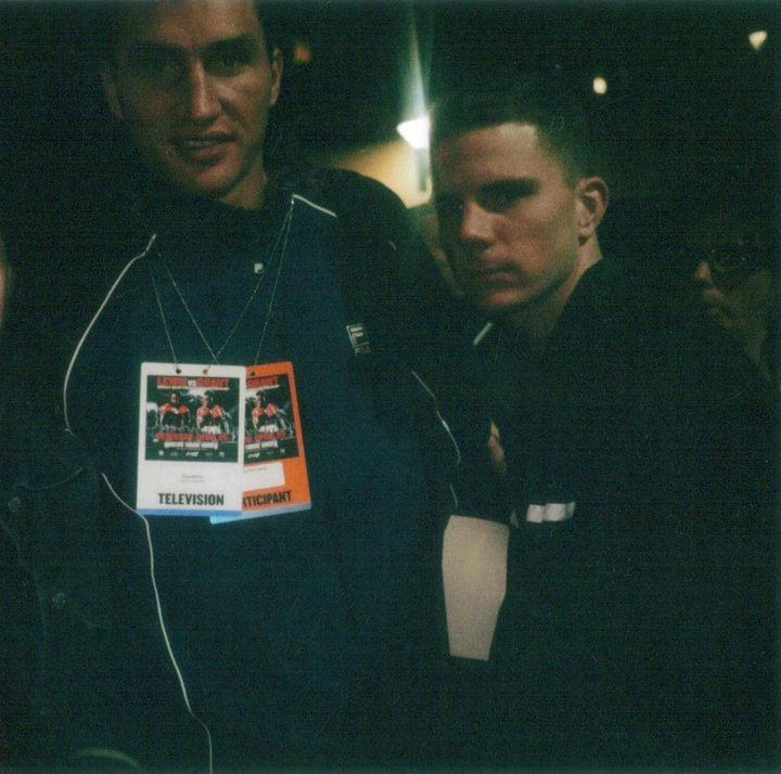 USA Boxing News Reporter Kirk Lang with Heavyweight Champion Wladimir Klitschko