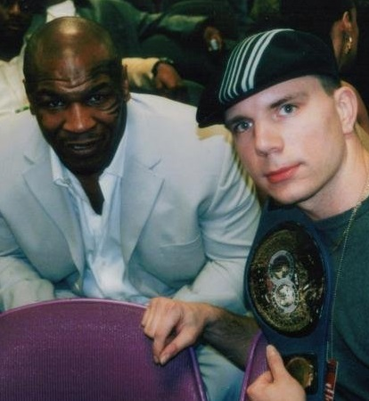 USA Boxing Writer Kirk Lang with Mike Tyson