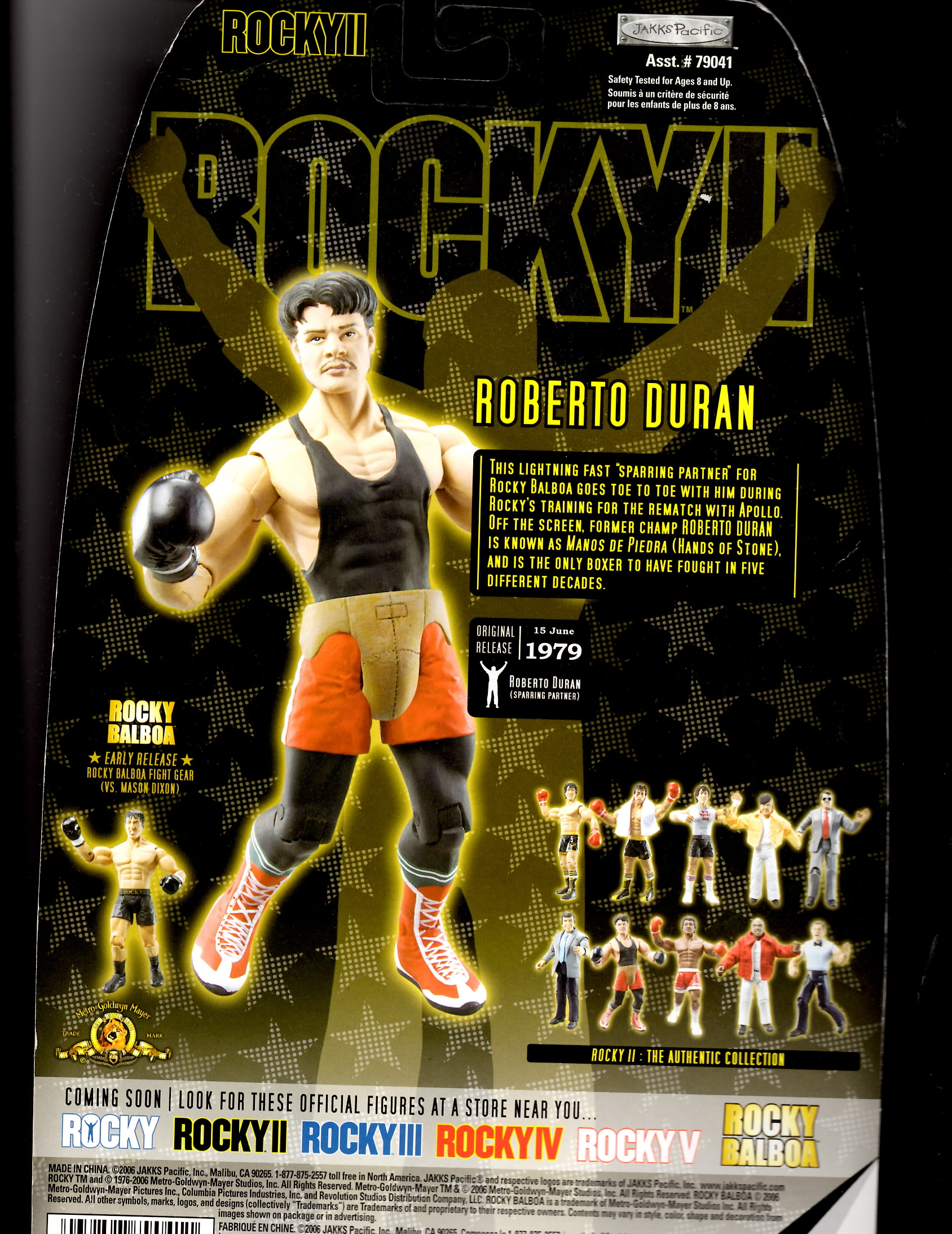 Roberto Duran action figure toy from Rocky II movie