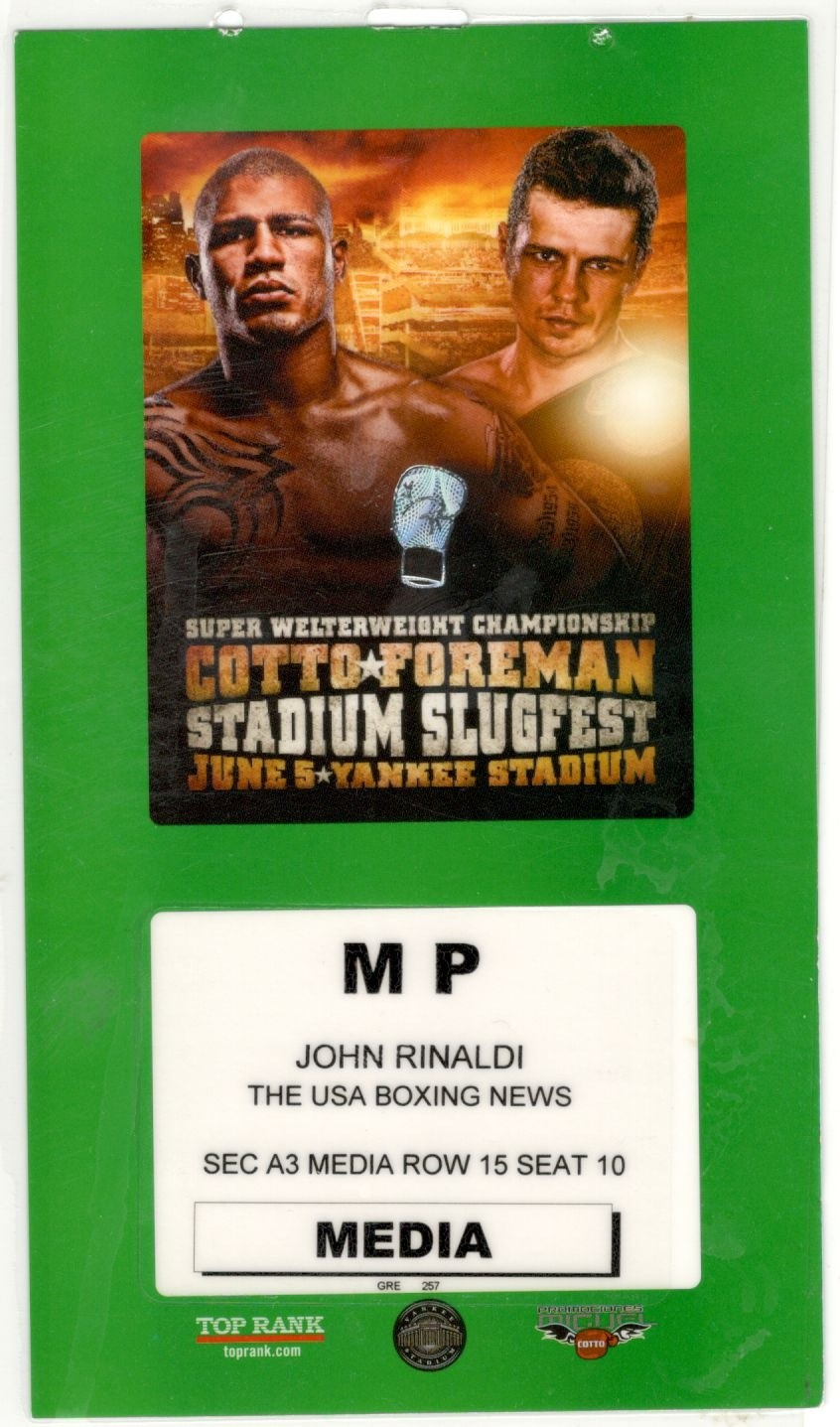 Cotto-Foreman Press Pass