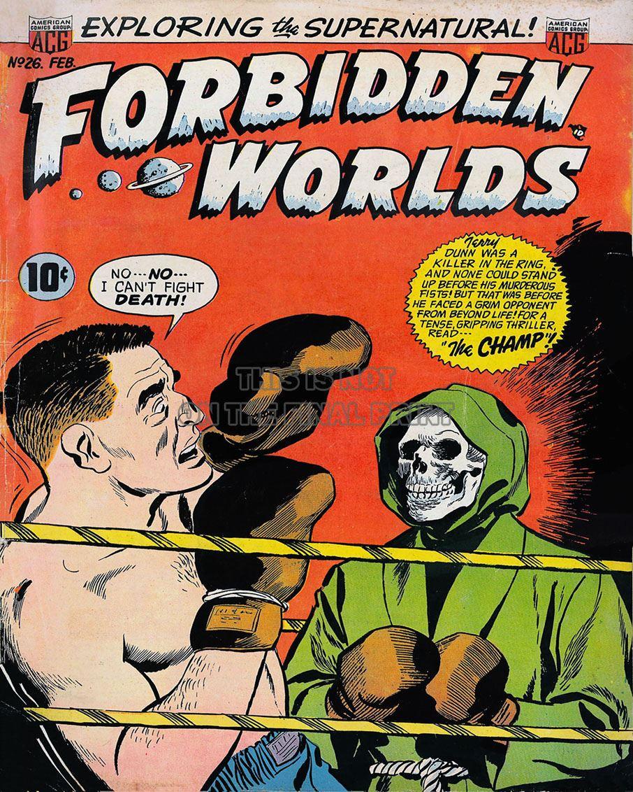 NEWBoxing Comic Book Forbidden Worlds Spooky.