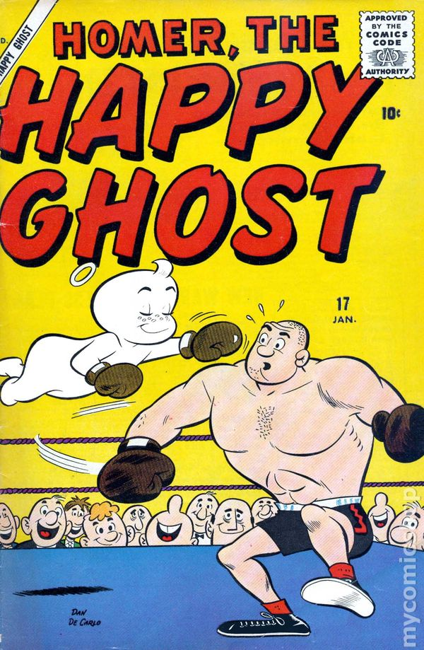 NEWBoxing Comic Book Homer The Happy Ghost.