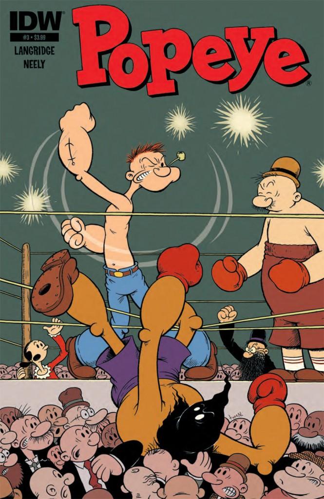 NEWBoxing Comic Book Popeye Again.