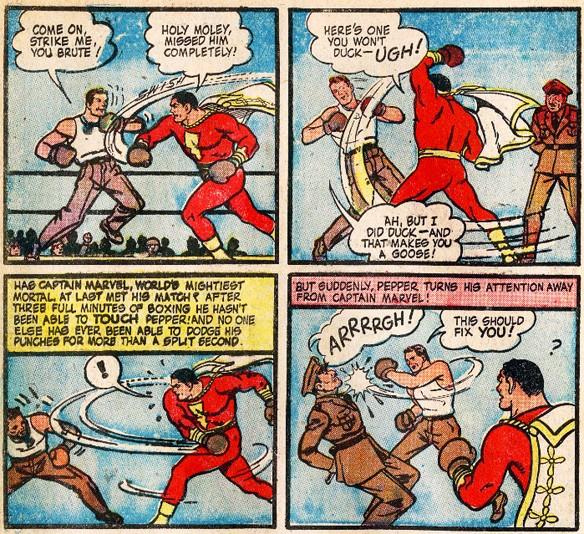NEWBoxing Comic Captain Marvel Boxing.