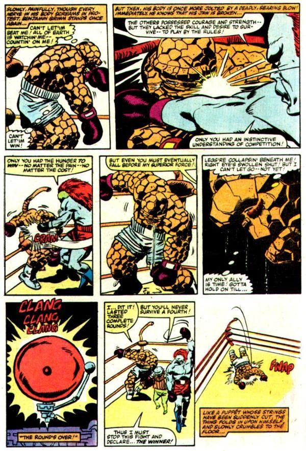 NEWBoxing Comic The Thing Boxing Scene.