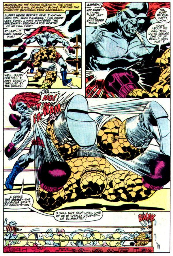 NEWBoxing comic The Thing Boxing Action.