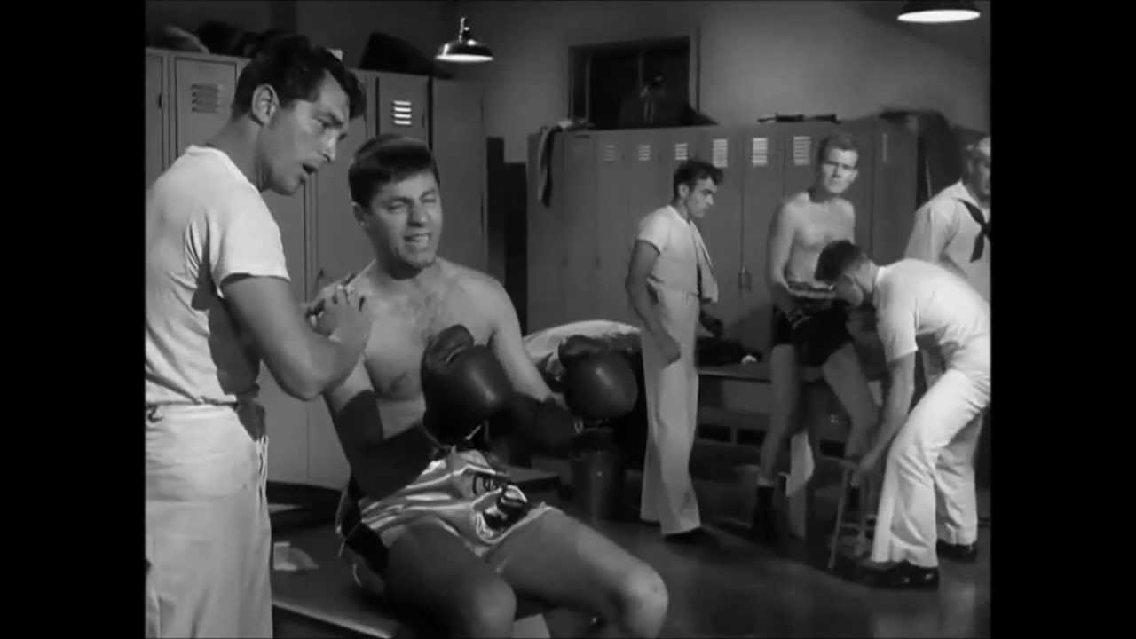 USABNWEBNOVMartin and Lewis and James Dean Boxing in Sailor Beware2