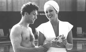 Robert Deniro and Kathy Moriarty in Raging Bull