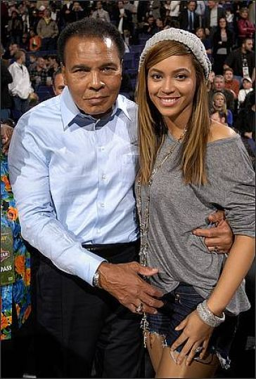 Beyonce and Muhammad Ali.