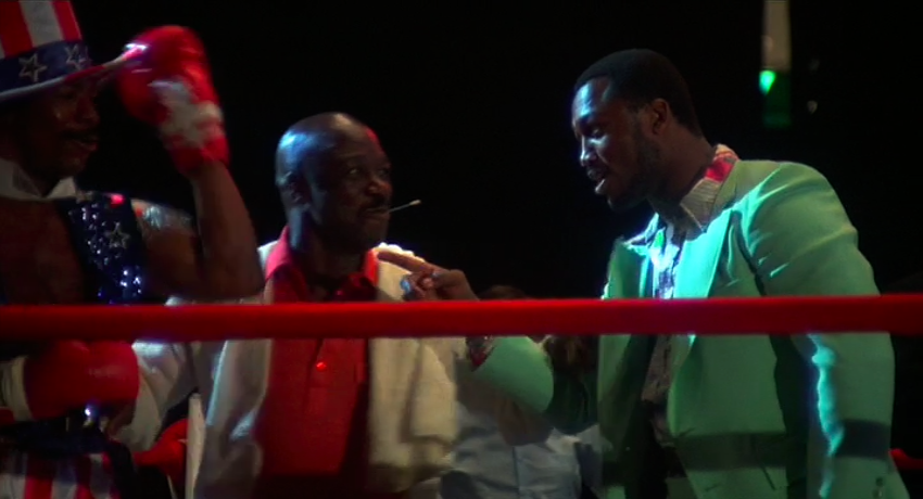 Carl Weathers, Tony Burton and Joe Frazier in Rocky film.