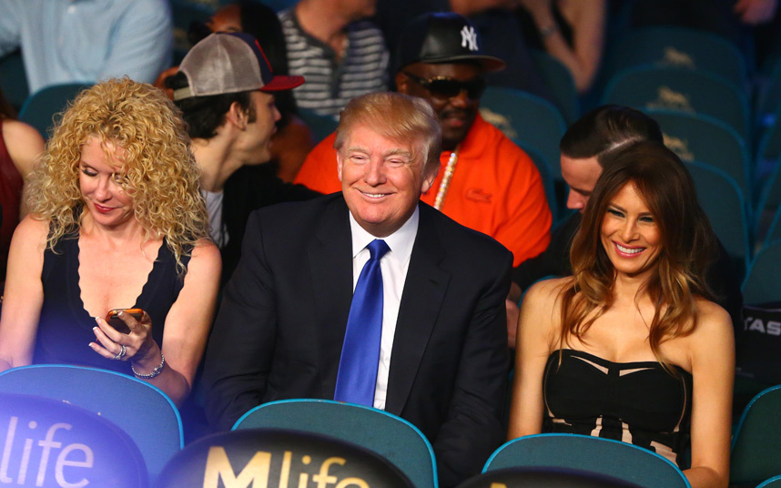 Donald Trump at Mayweather-Pacquiao.