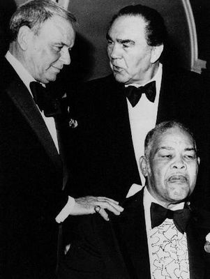 Frank Sinatra, Max Schmeling and Joe Louis.
