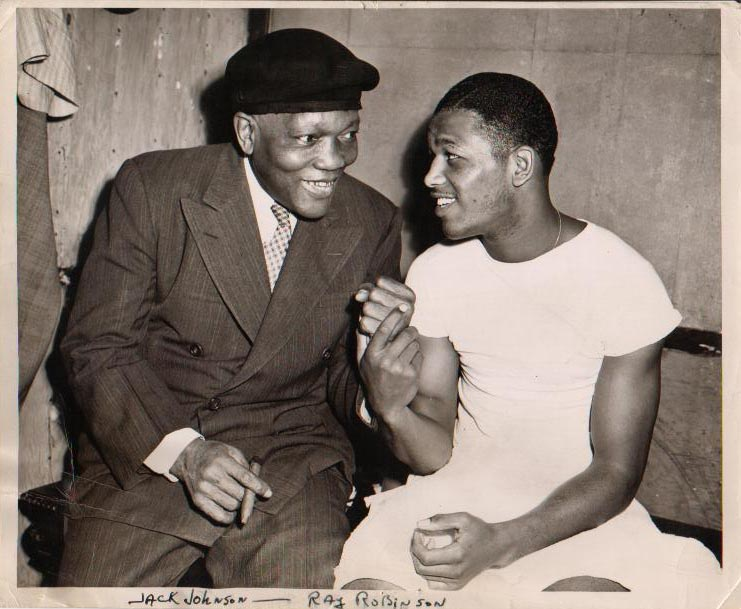 Jack Johnson and Sugar Ray Robinson.