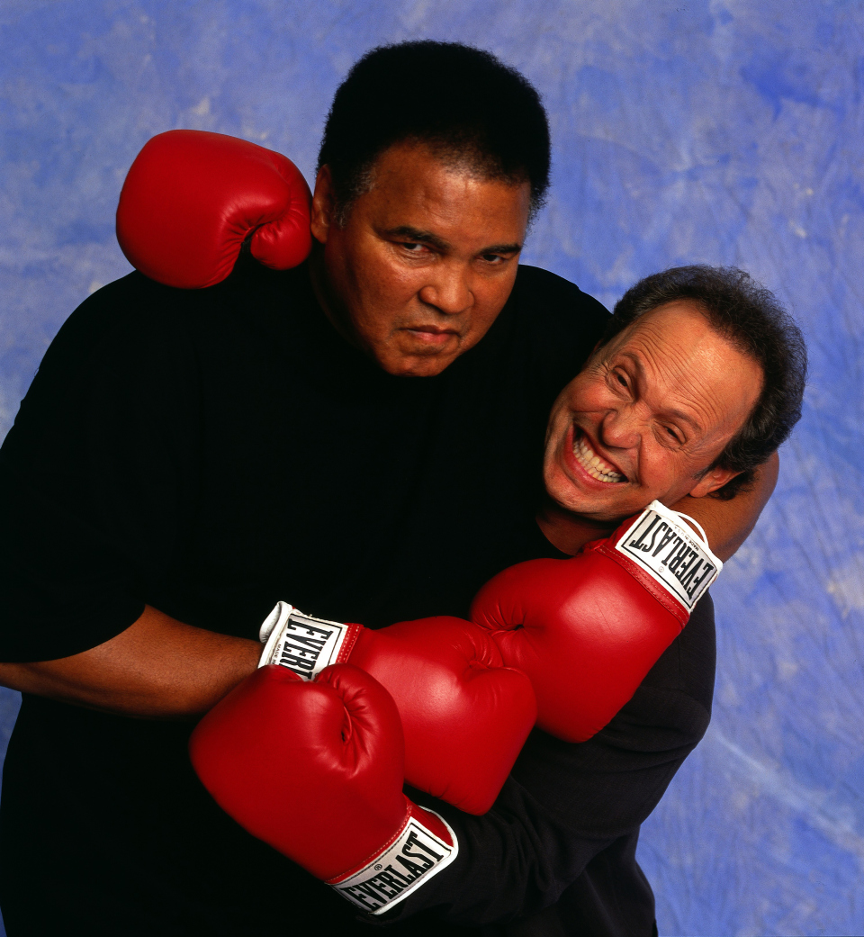 Muhammad Ali with Billy Crystal.