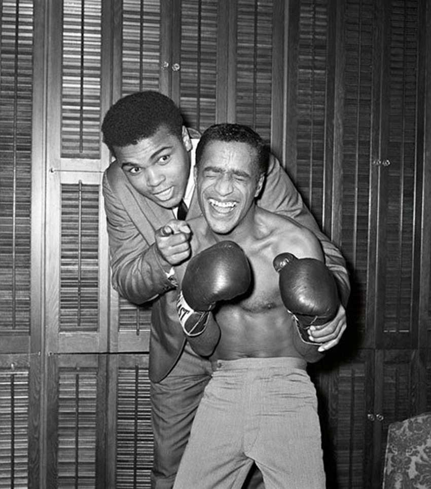 Muhammad Ali with Sammy Davis Jr..