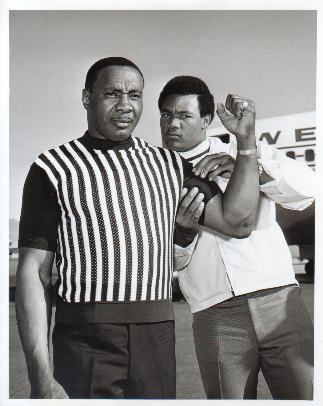 Sonny Liston and George Foreman.