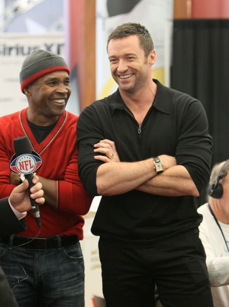 Sugar Ray Leonard and Hugh Jackman.