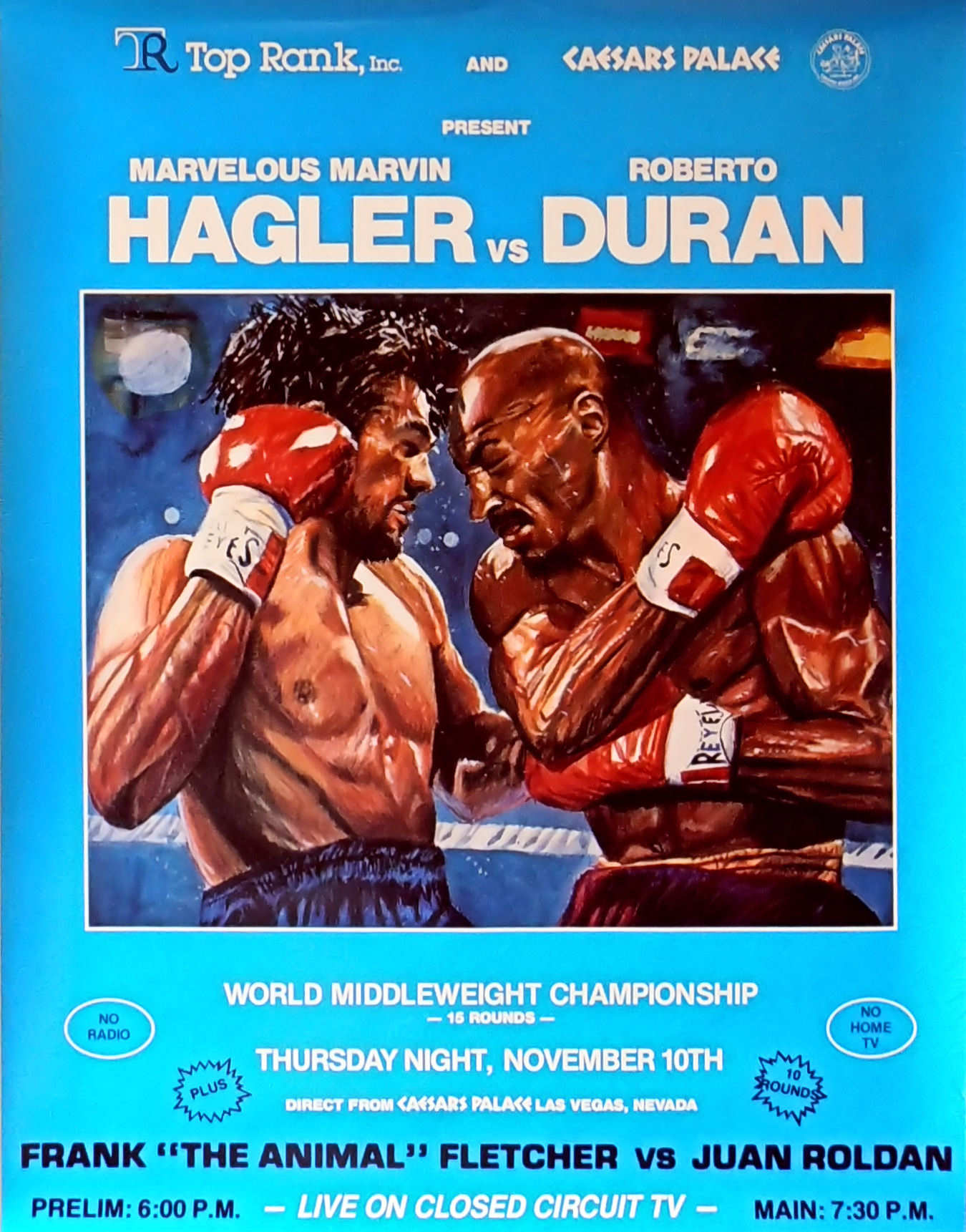 DURAN-HAGLER FIGHT PROGRAM