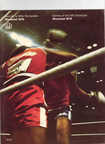 Fight Program - 1976 Olympics - Boxing.