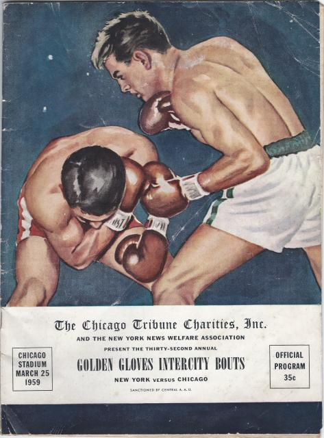 Fight Program - Cassius Clay - Golden Gloves.