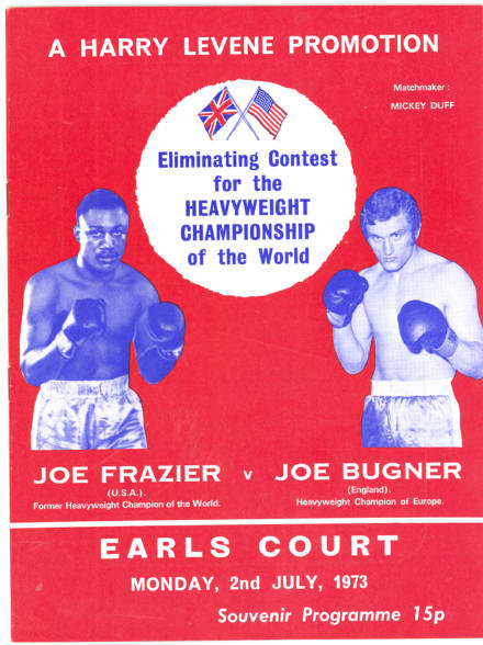 Fight Program - Frazier-Bugner.