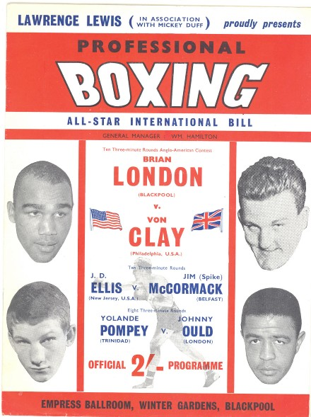 Fight Program - London-Von Clay.