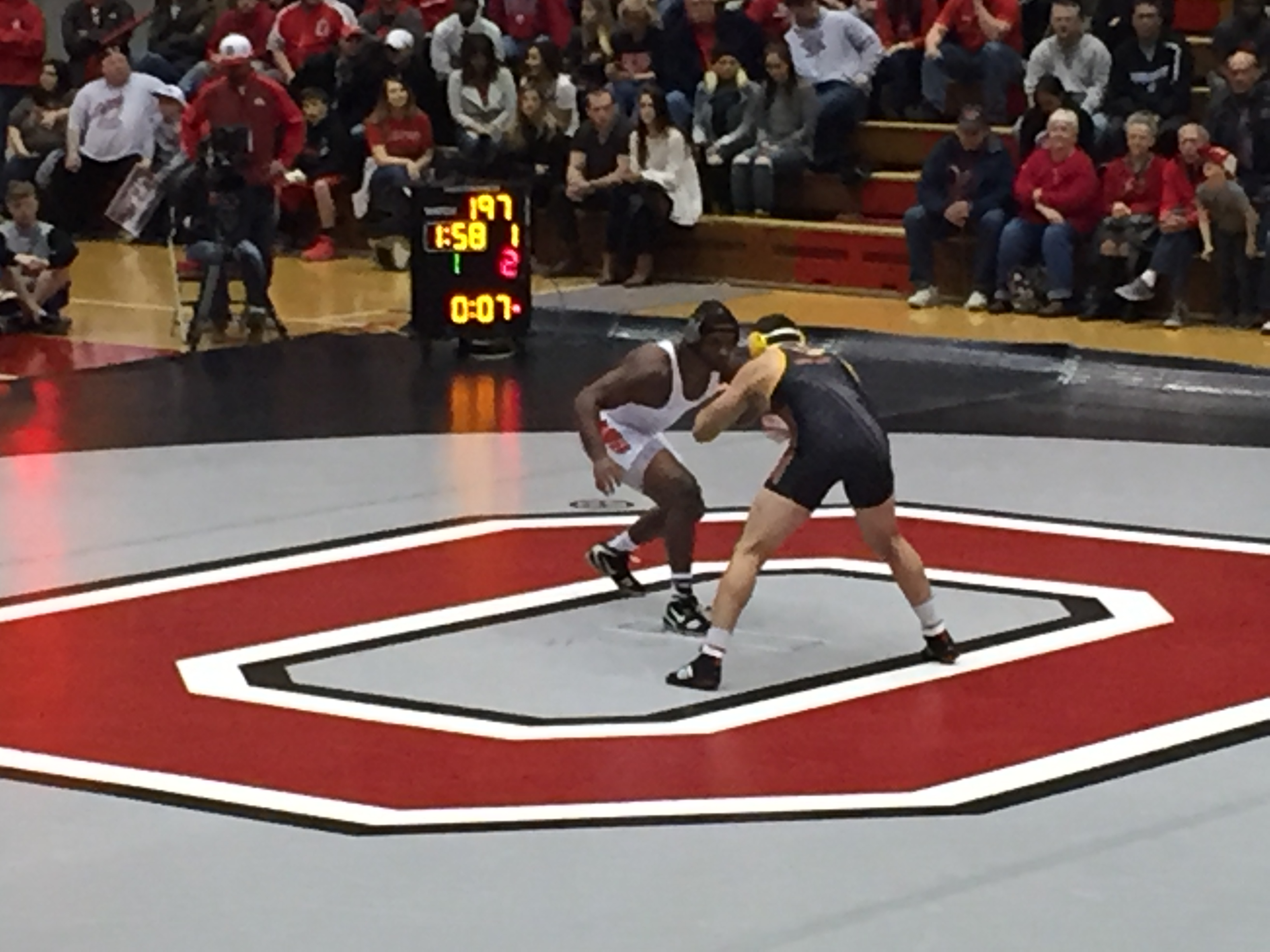 Mark Martin makes his season Debut for the Buckeyes at 197 lbs! PHOTO BY:R.J RInaldi