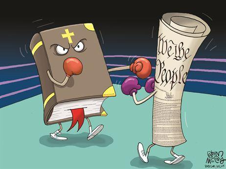 Cartoon political boxing cartoon 10.