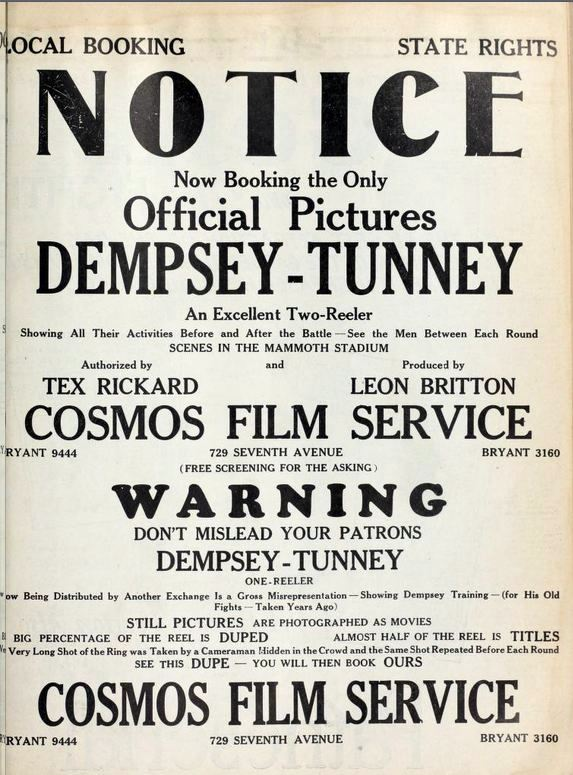 BN Dempsey-Tunney movie poster