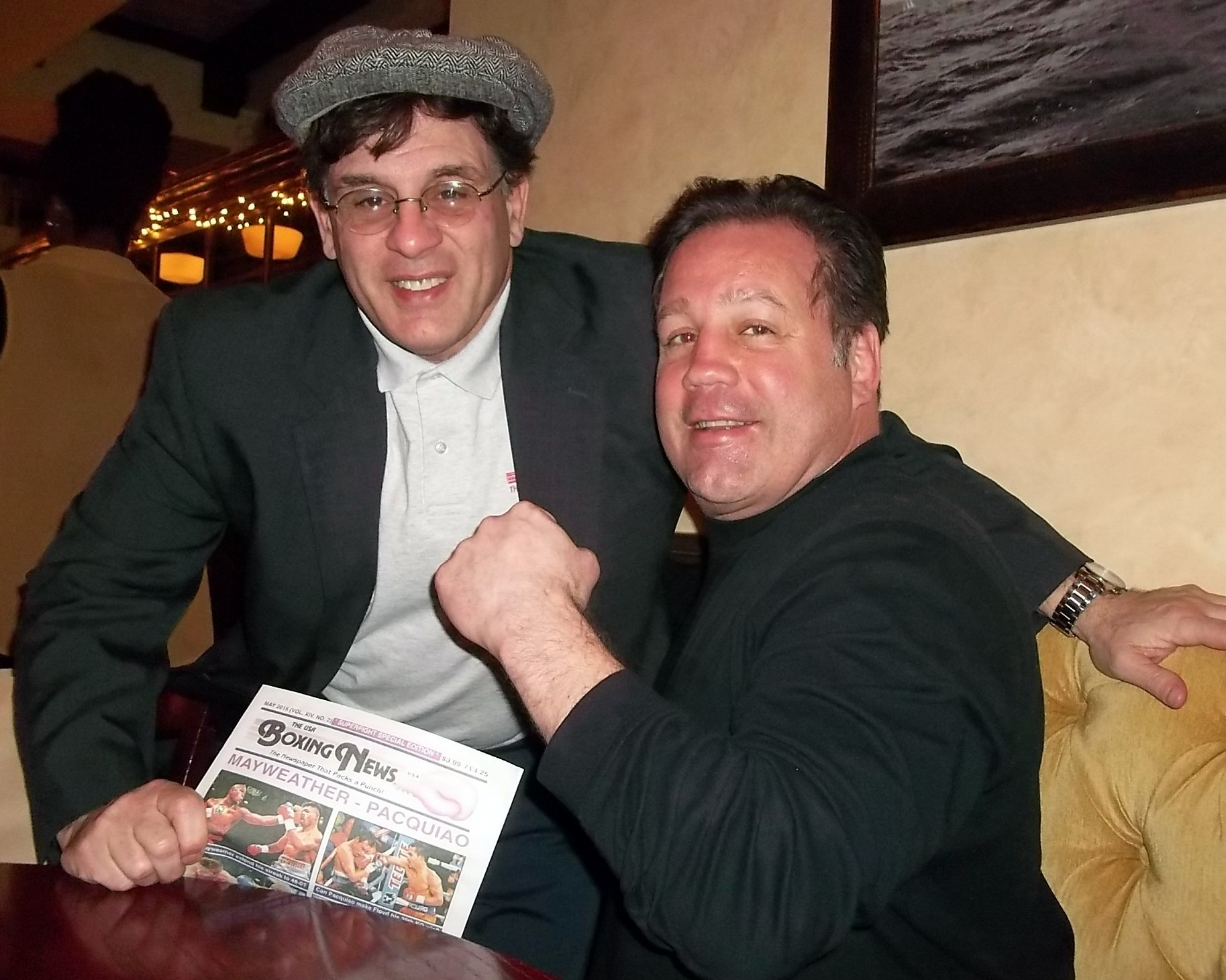 "Alex Rinaldi with former Light Heavyweight and Cruiserweight Champion Bobby ""Chappie"" Czyz"