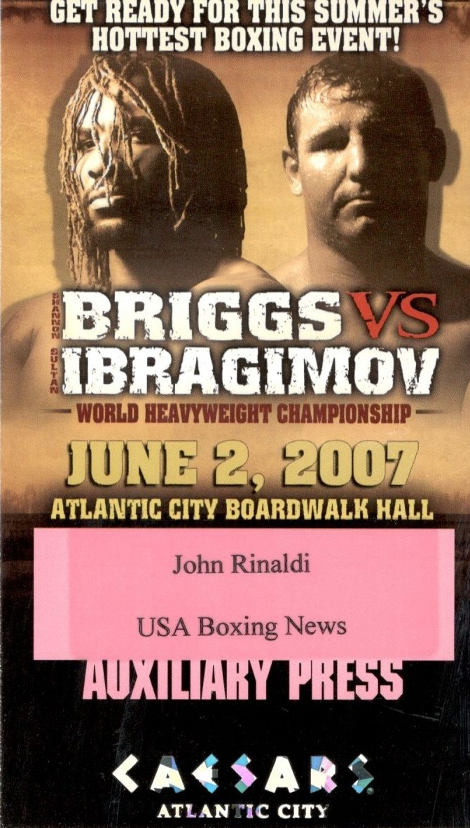 Fight Press Pass - Briggs vs. Ibragimov 2007.