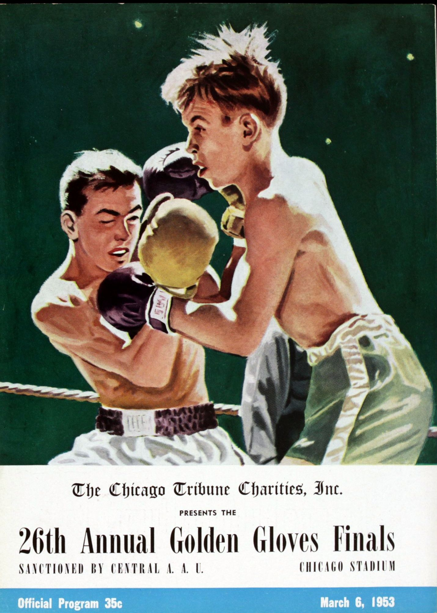 Fight Program 1953 Golden Gloves.