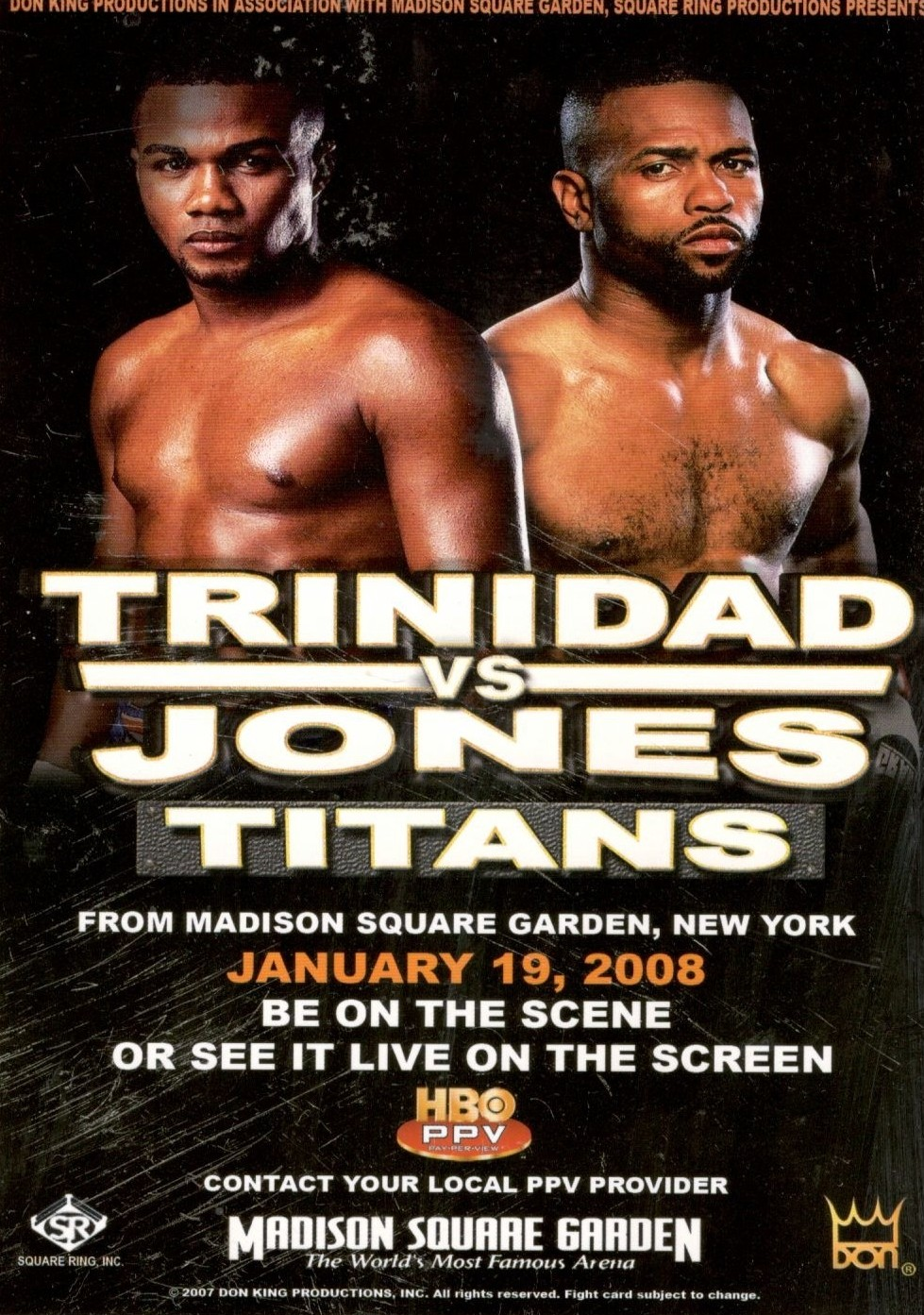 Fight Promotion - Jones vs. Trinidad 2008 Promo Card.