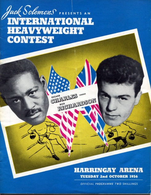 Fight program - Charles-Richardson Fight Program 1956.