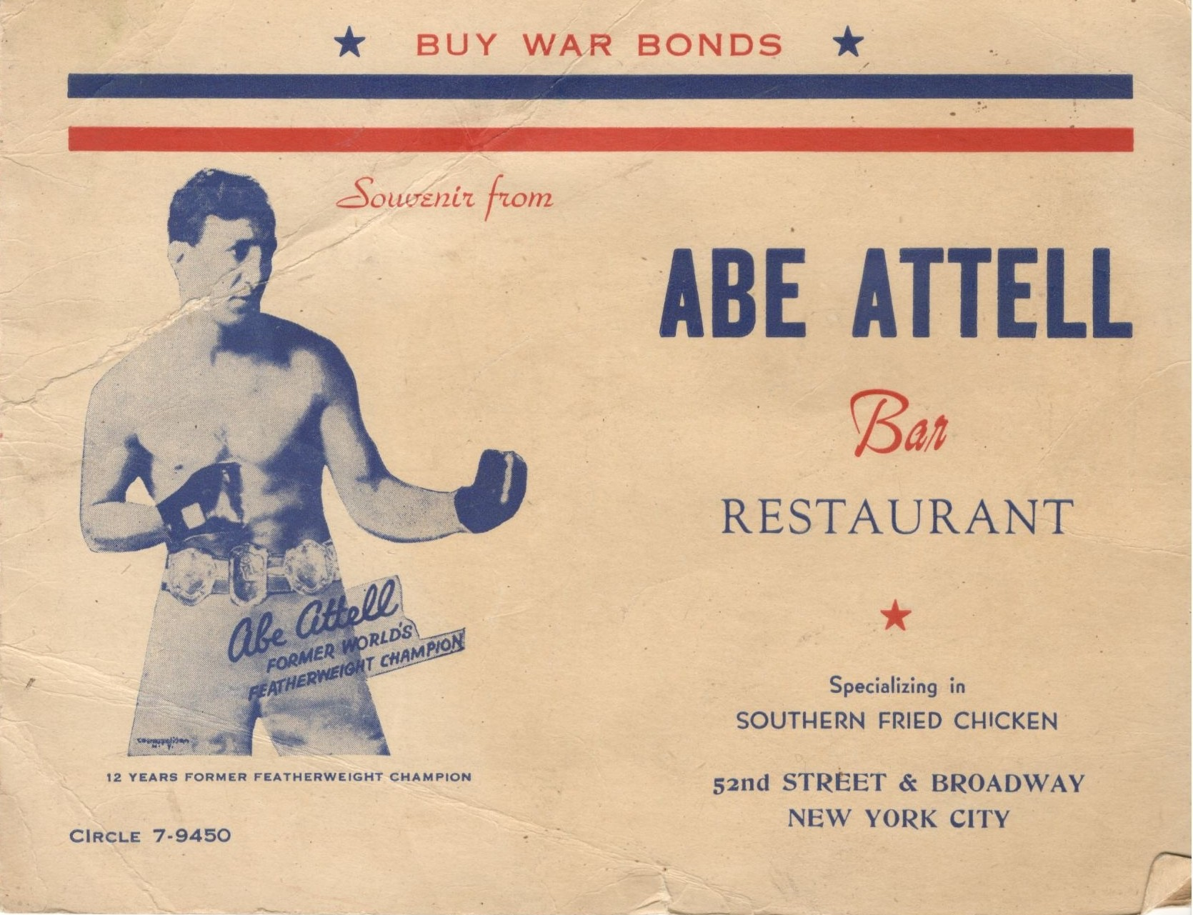 USABN Website Abe Attell Bar and Restaurant Cover.