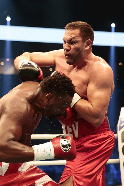 May 13 -Pulev (right) and Chisora (left) slug it out.