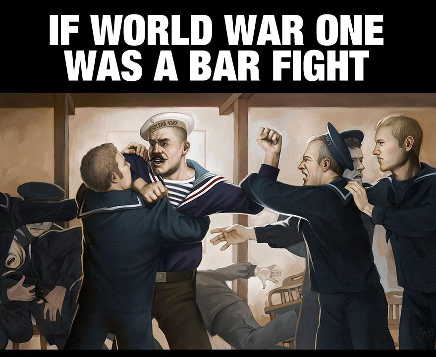 Boxing Cartoon poster - World War I.