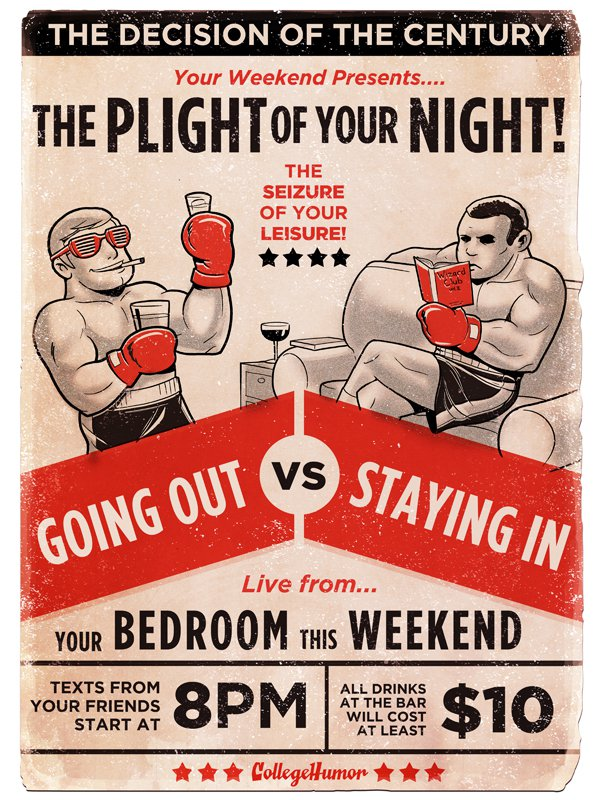 Boxing cartoon poster - Leisure.